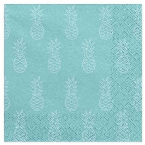 PartyDeco Servetter Aloha Ananas, 20 st
