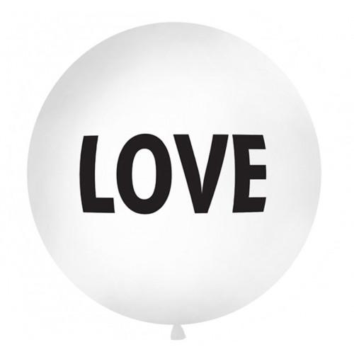 PartyDeco Stor Ballong, Love