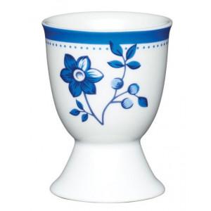 Kitchen Craft Äggkopp Blå & vit, blomma