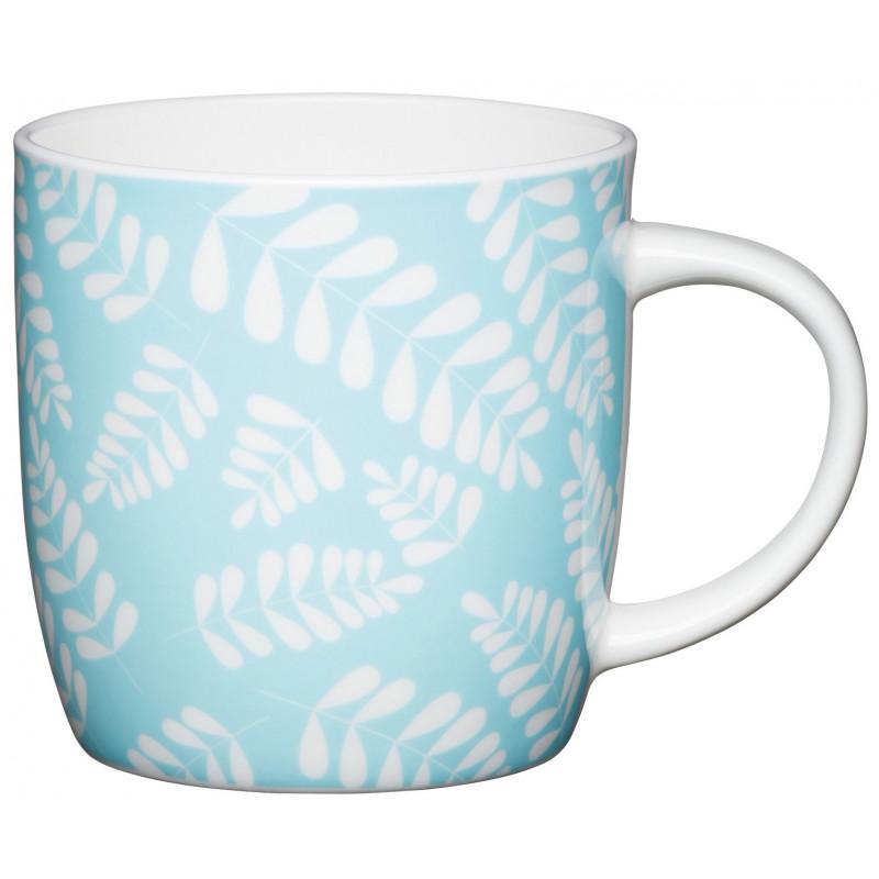 Kitchen Craft Mugg, blad ljusblå
