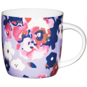 Kitchen Craft Mugg, blommig lila