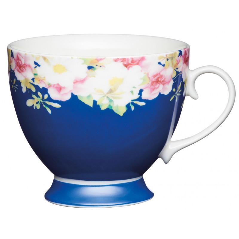 Kitchen Craft Temugg, blå med blommor