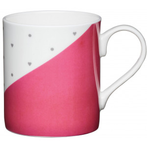 Kitchen Craft Mugg, rosa hjärtan