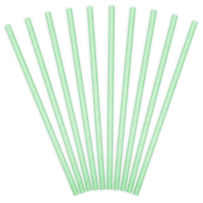 PartyDeco Sugrör, mintgrön