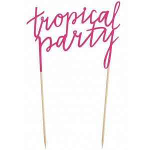 PartyDeco Cake Topper Tropical Party