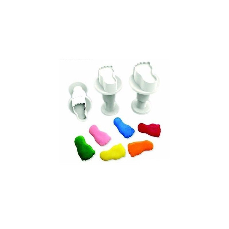 Dekofee Utstickare Mini Set, babyfötter