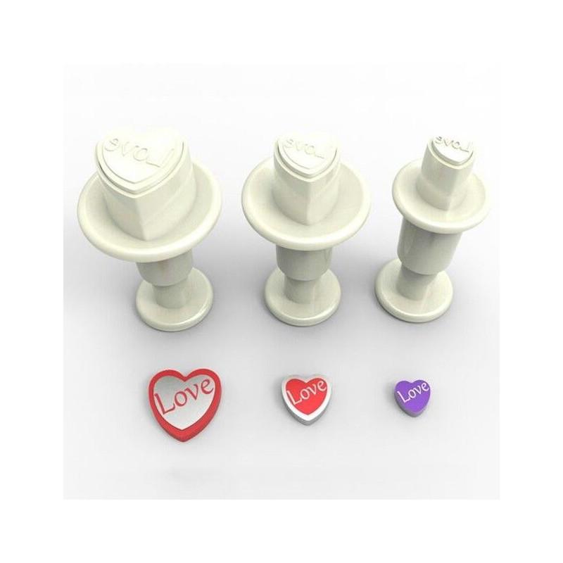 Dekofee Utstickare Mini Set, hjärtan