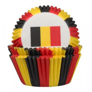House of Marie Muffinsform Belgiska flaggan