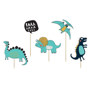PartyDeco Cake Toppers Dinosaurie