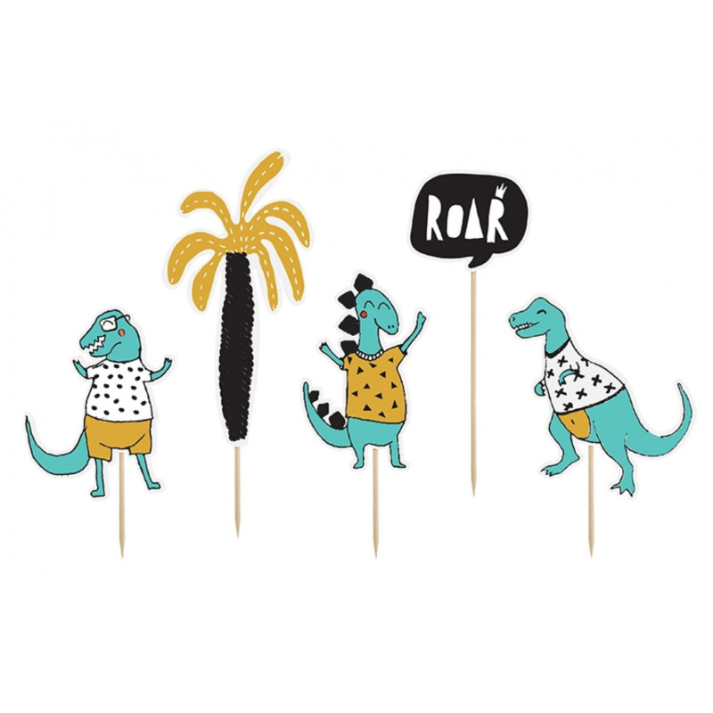 PartyDeco Cake Toppers Dinosaurie, Roar
