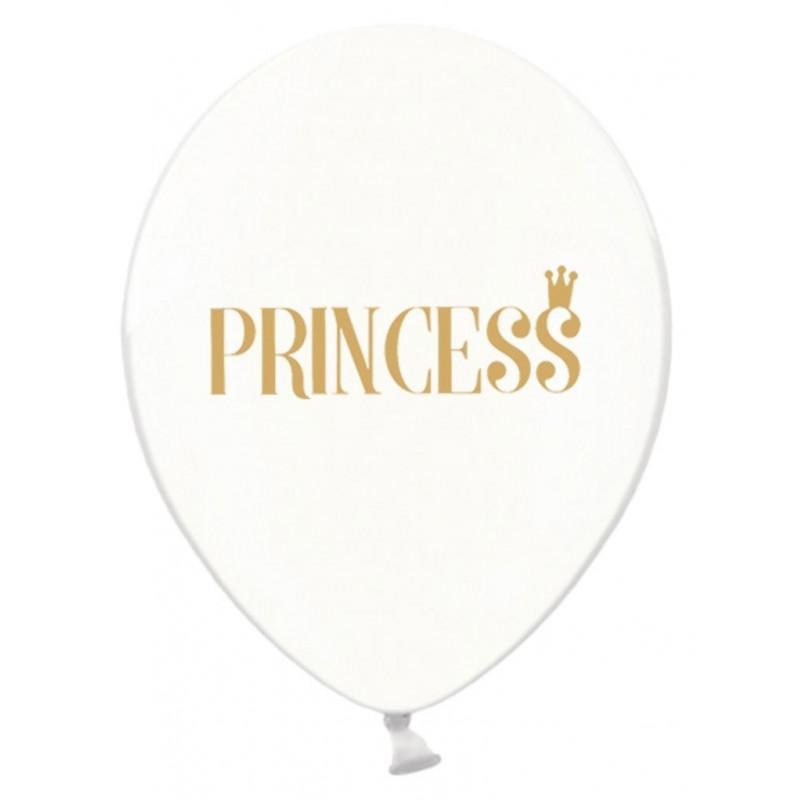 PartyDeco Ballonger Transparenta, Princess