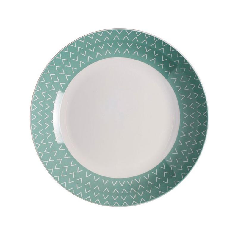 Rosti Mepal Djup tallrik, Flow, grön, 22 cm