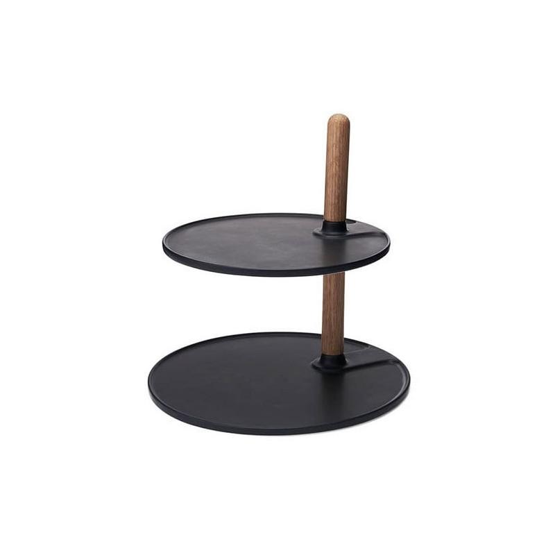 Morsö Våningsfat Kit, ek, svart porslin