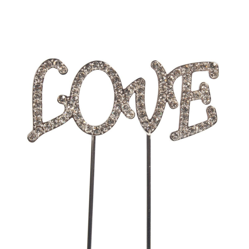 Cake Star Cake Topper med strass, Love