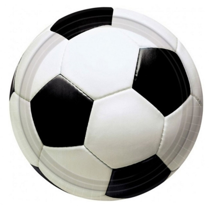 PartyDeco Papperstallrikar Fotboll