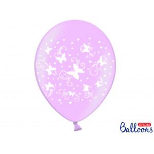PartyDeco Ballonger Fjärilar, rosa