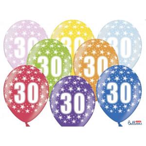 PartyDeco Ballonger 30 år, blandade färger