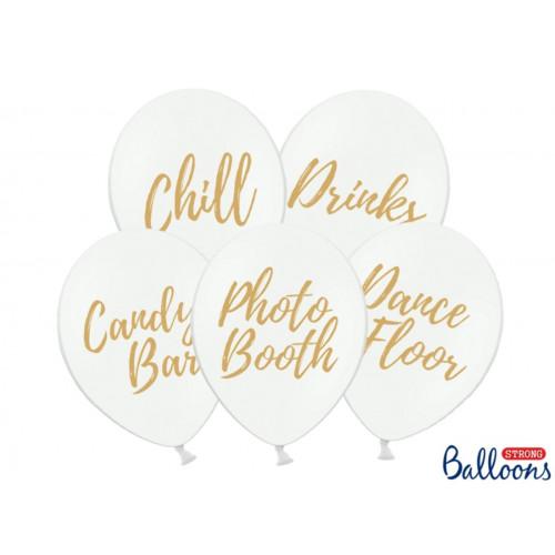 PartyDeco Ballonger till fest, vita