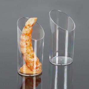 Engångsbägare i plast, rund, sluttande kant, 50 st