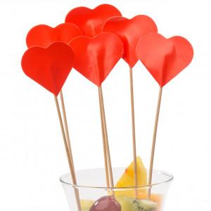 Cocktailpinnar Hjärta, 50 st