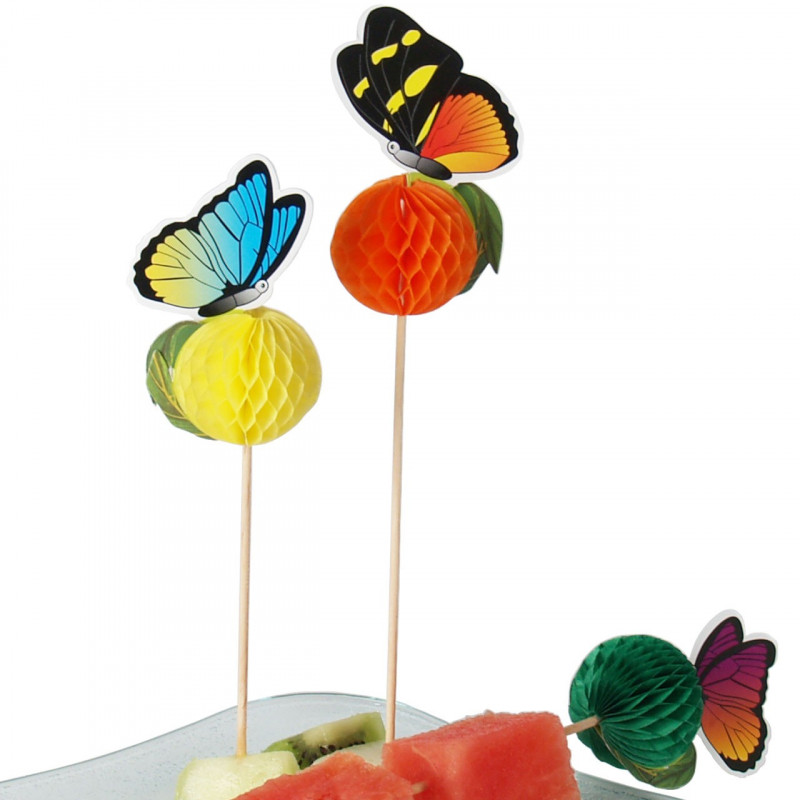 Cocktailpinnar Fjäril, 48 st
