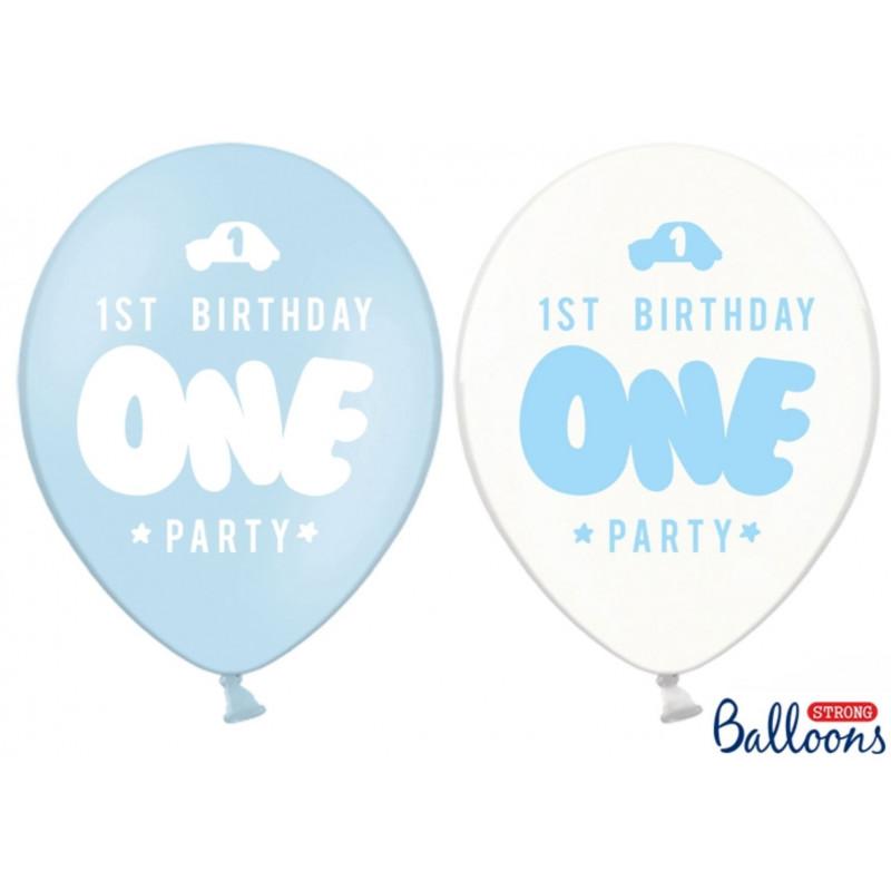 PartyDeco Ballonger 1st birthday, blå