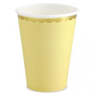 PartyDeco Pappersmuggar, gul & guld