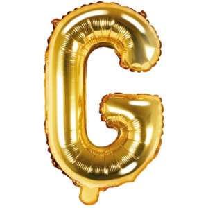 PartyDeco Bokstavsballong G, guld