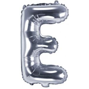 PartyDeco Bokstavsballong E, silver