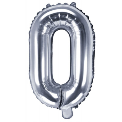 PartyDeco Bokstavsballong O, silver