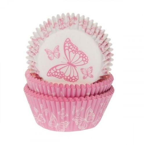 House of Marie Muffinsform Rosa Fjärilar
