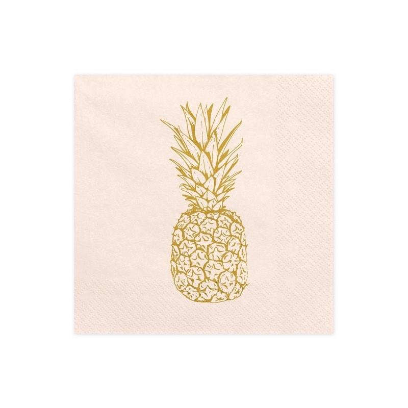 PartyDeco Servetter Ananas rosa
