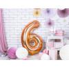 PartyDeco Sifferballong 6, roséguld, 86 cm