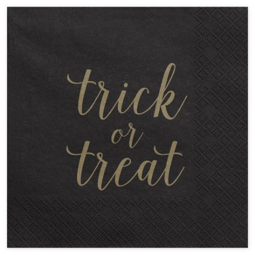 PartyDeco Servetter Trick or treat