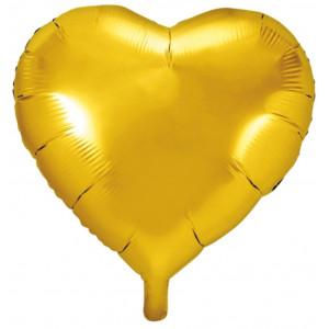 PartyDeco Folieballong Hjärta, guld