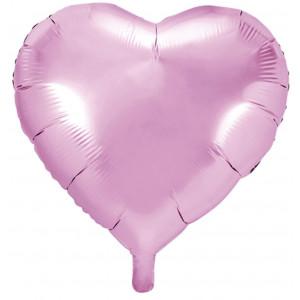 PartyDeco Folieballong Hjärta, ljusrosa
