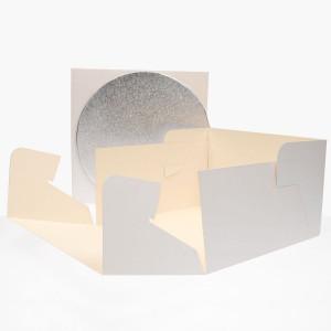 FunCakes Tårtkartong med rund bricka, 25,5 cm