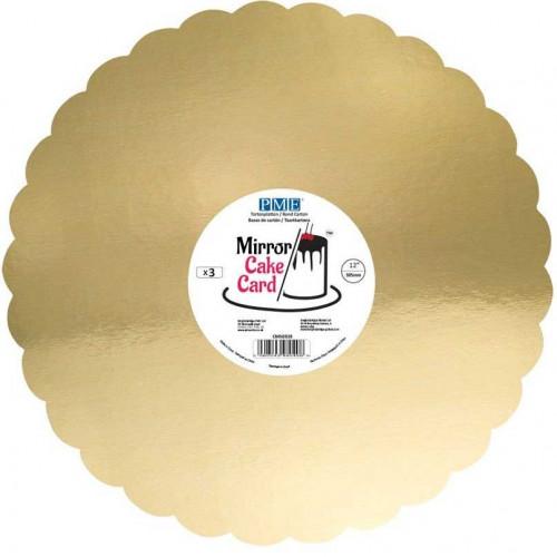PME Tårtbricka Guld 3 pack, 30,5 cm