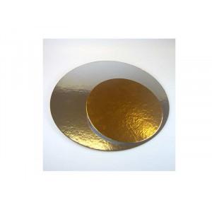 Tårtbricka guld och silver, 20 cm