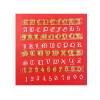 Utstickare Alphabet & Numbers, Old English - Fmm