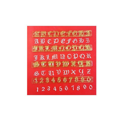 Utstickare Alphabet & Numbers, Old English - Fmm