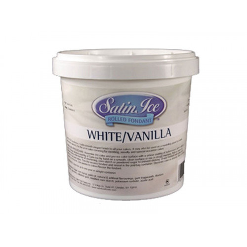 Satin Ice Sockerpasta, vit vanilj, 2,5 kg