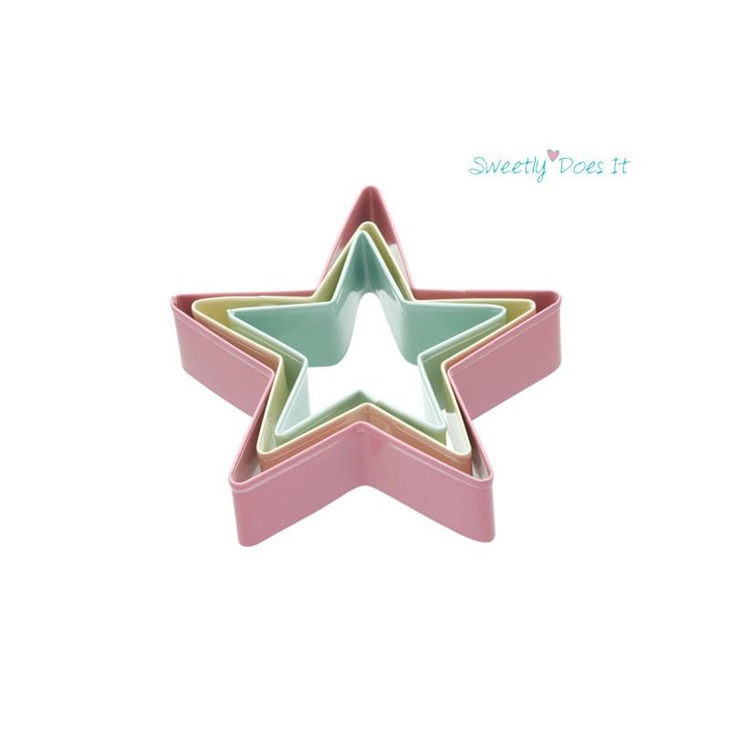 Utstickare Stjärnor, 3 st - Kitchen Craft