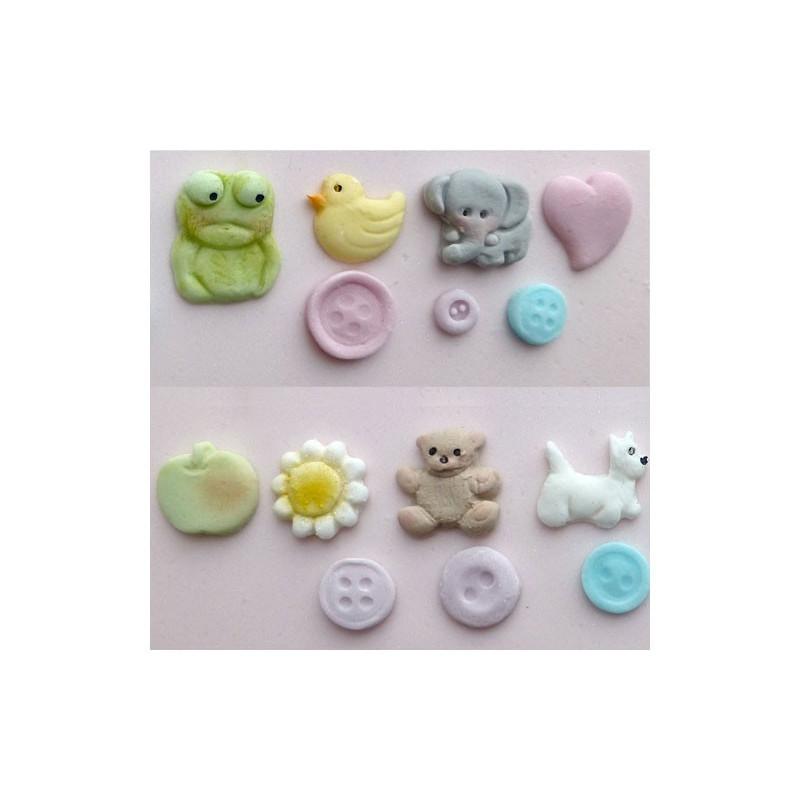Silikonform Baby button mould - Karen Davies