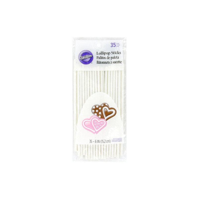 Lollipop/cake pop sticks 15 cm - Wilton