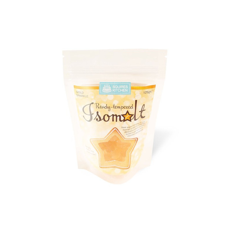 Isomalt tempererat, Gold Sparkle - Squires Kitchen