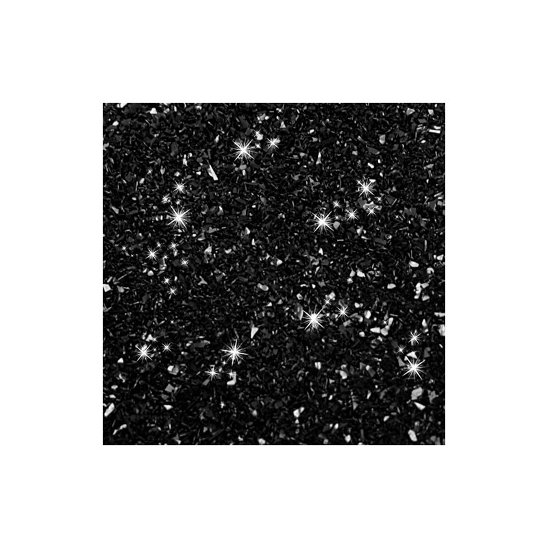 Ätbart glitter, svart - Rainbow Dust