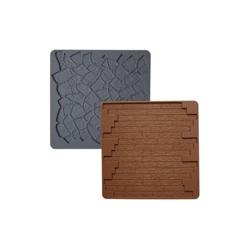 Wilton silikonform textur, trä och sten