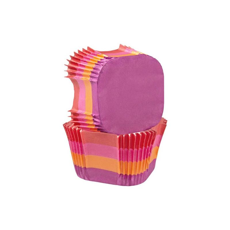 Wilton muffinsform fyrkantig, randiga