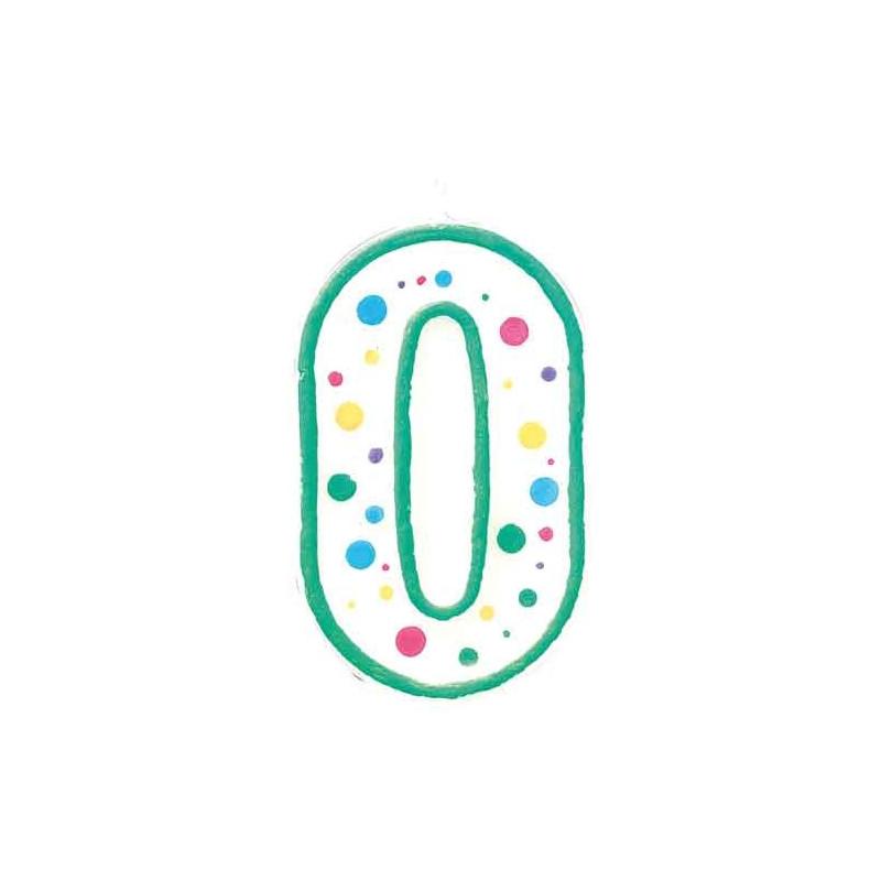 Wilton Tårtljus, sifferljus, 0, grön